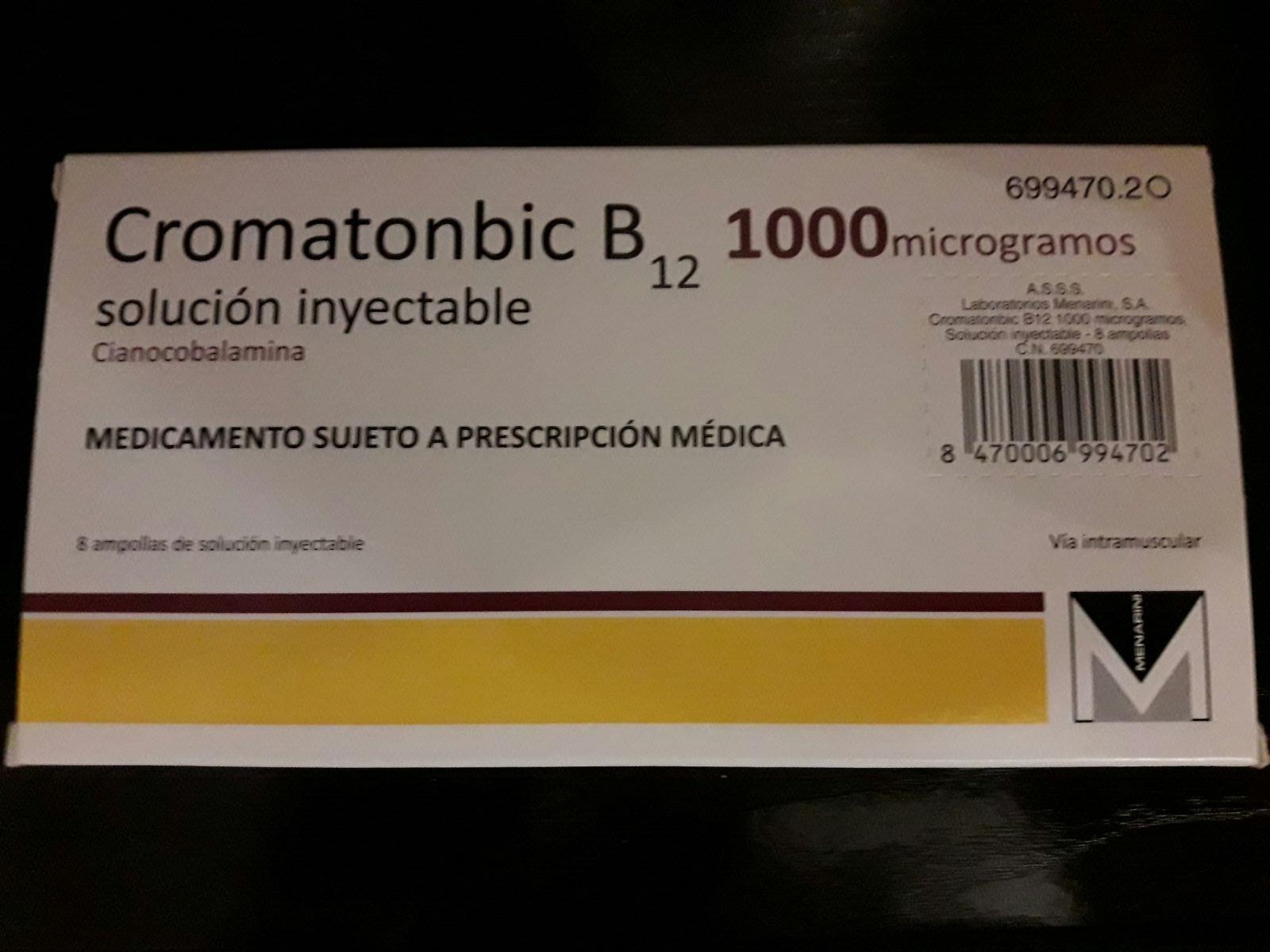 que es la vitamina b12 inyectable