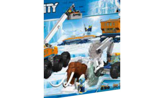 Lego Unidentified Arctic City Set with Woolly Mammoth