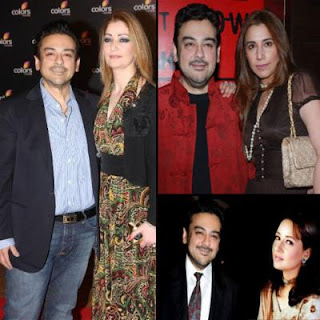 adnan sami photo with all wives