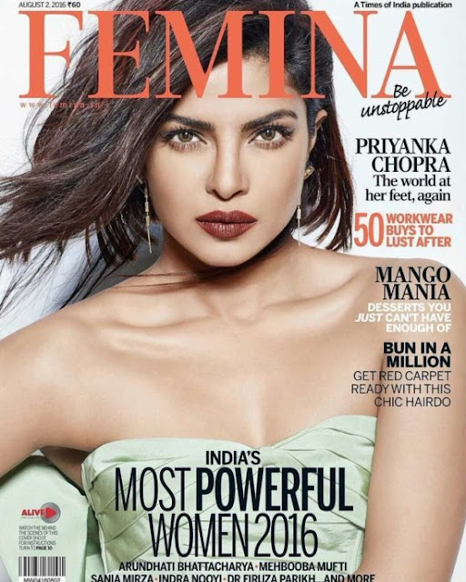 Actress, Singer, @ Priyanka Chopra - Femina Magazine, August 2016