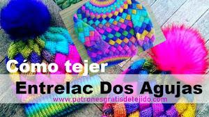 Cómo Tejer Gorros con Agujas en Punto Entrelac / Tutorial