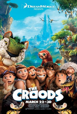 Poster Of Free Download The Croods 2013 300MB Full Movie Hindi Dubbed 720P Bluray HD HEVC Small Size Pc Movie Only At worldfree4u.com