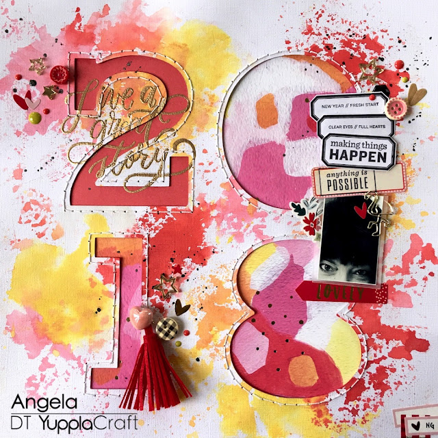 2018 Scrapbook Layout by Angela Tombari for Yuppla Craft DT