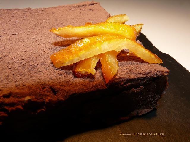 Torró de xocolata, taronja confitada, turrón de chocolate, postres de nadal, l'essència de la cuina, blog de cuina de la sonia