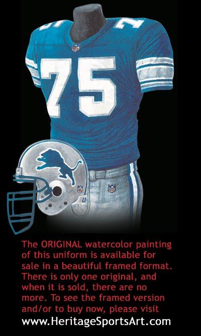 Detroit Lions Uniform And Team History Heritage Uniforms
