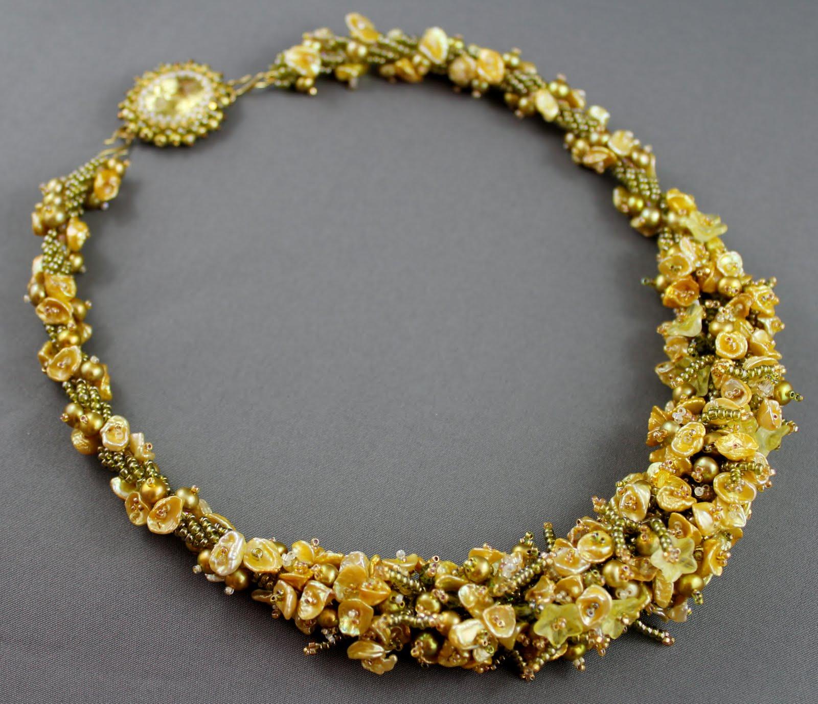 Keshi Pearl Necklace: RosemaryB Jewellery: Gold Keshi Pearl Necklace