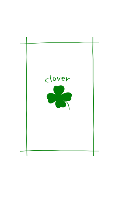 Cute four leaf clover