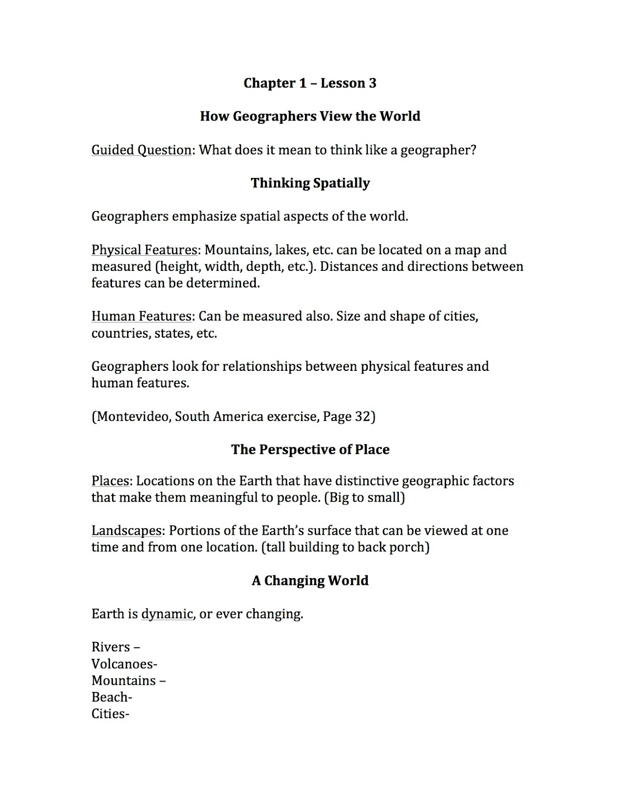 Ehms World Cultures Amp Geography How Geographers View The