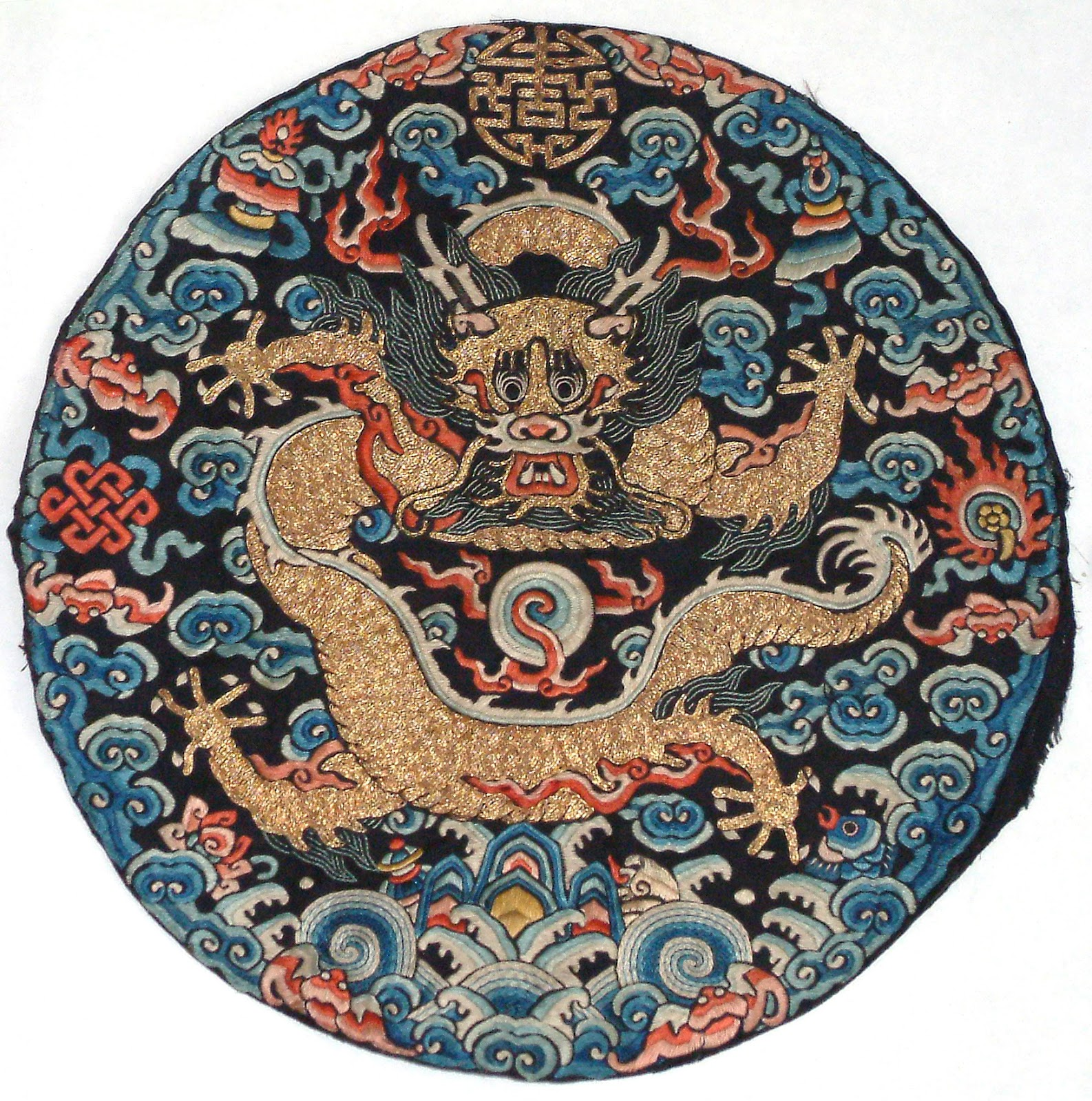 Durham weaver dragon imagery in chinese imperial textiles imperial dragon insignia roundel with a five clawed dragon david rosier buycottarizona Choice Image