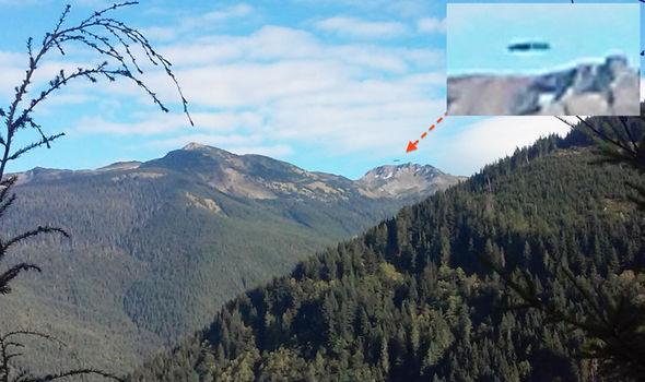 Esta impagen completamente nítida de un OVNI sobre Glacier Peak despierta las dudas