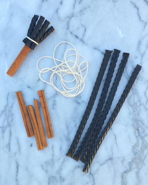 DIY Broom Stir Sticks for Witches' Cold Brew - Iced Coffee Cocktail | www.jacolynmurphy.com