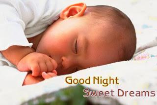 Cute Sleeping Baby good night image