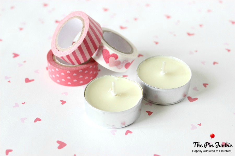 Washi Tape Votive Candles Dollar Store Craft
