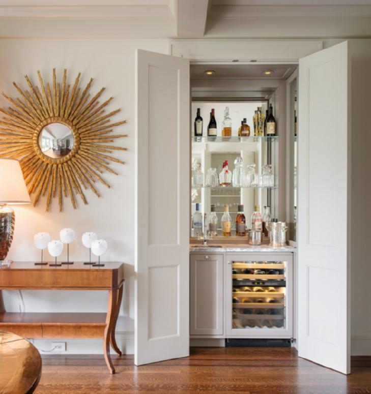 Bar Design Ideas: How To Turn A Closet Or Furniture Piece Into A Bar, 4