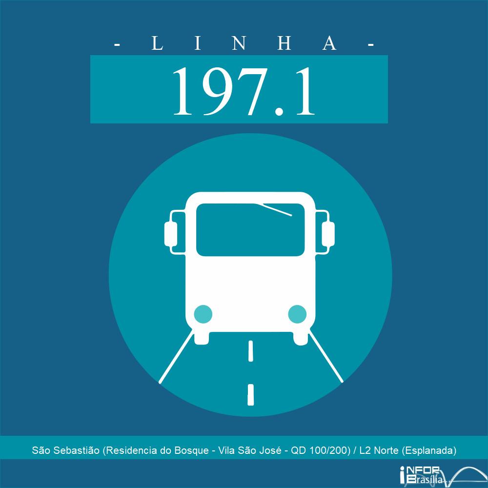 Horário de ônibus e itinerário 197.1 - São Sebastião (Residencia do Bosque - Vila São José - QD 100/200) / L2 Norte (Esplanada)