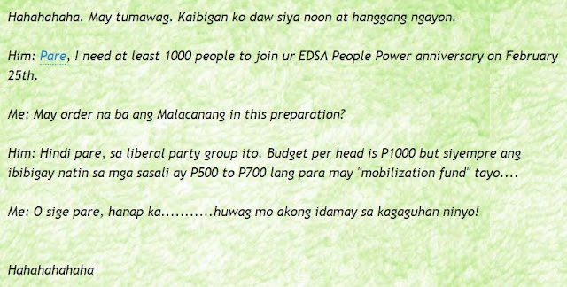 "LP RALLIES SCHEME EXPOSED! Journalist ED Dan Verzola Shared: ""1000 Pesos Per Head"". Must Read!"