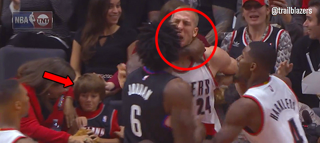 DeAndre Jordan Shoves Mason Plumlee Into Kid (VIDEO)