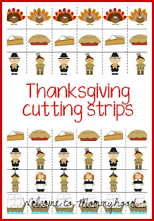 Thanksgiving activities by Welcome to Mommyhood: preschool thanksgiving cutting strips #preschoolactivities, #montessori, #freeprintables, #thanksgivingactivities