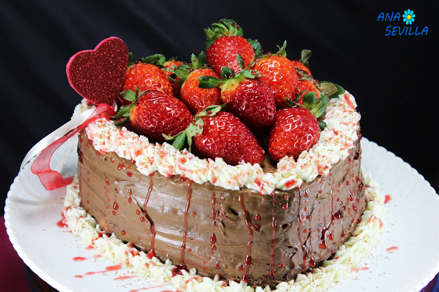Tarta de fresas y chocolate Con Thermomix Ana Sevilla