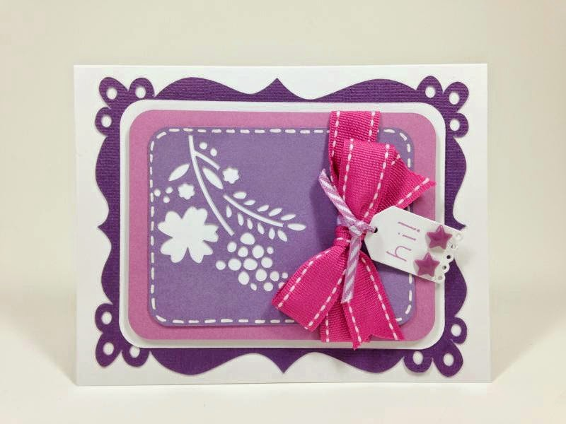 Close To My Heart Artfully Sent Cricut cartridge Fancy Frame card