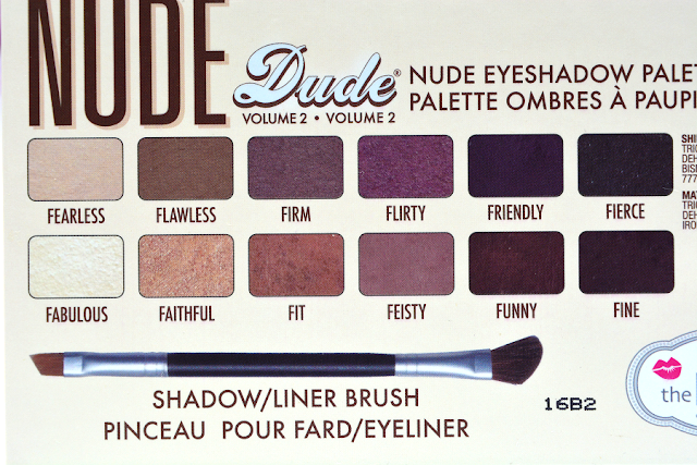 The Balm Nude Dude Volume 2 Lidschattenpalette | Rückseite