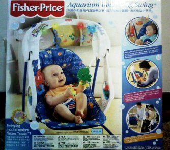 Useditem2: Fisher Price Aquarium Take Along Swing RM 350