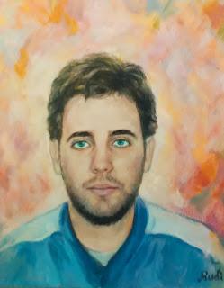 Retrato masculino azul by Rudi
