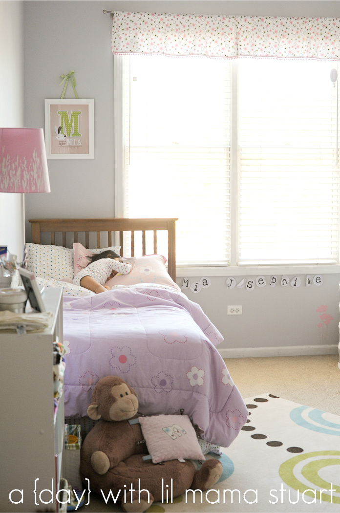 Amelia S Room Toddler Bedroom: A {day} With Lil Mama Stuart: Baby Girl's Nursery/Toddler