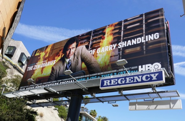 Zen Diaries Garry Shandling billboard