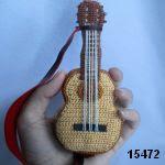 patron gratis guitarra amigurumi