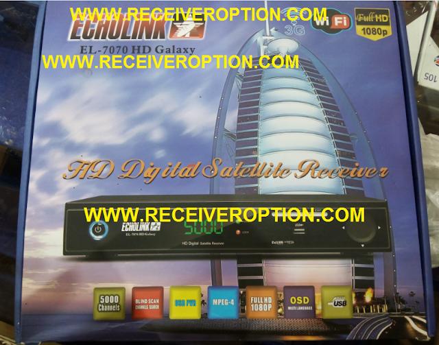 ECHOLINK EL-7070 HD GALAXY RECEIVER BISS KEY OPTION