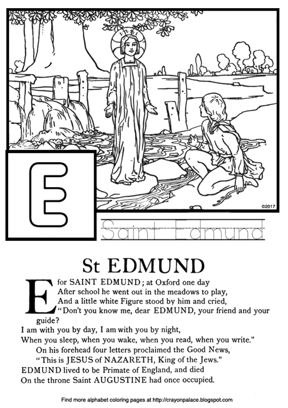 Catholic Childrens Coloring Pages Saint Practice Writing Sheet Children Talking Together Stream Rocks Countryside Landscape