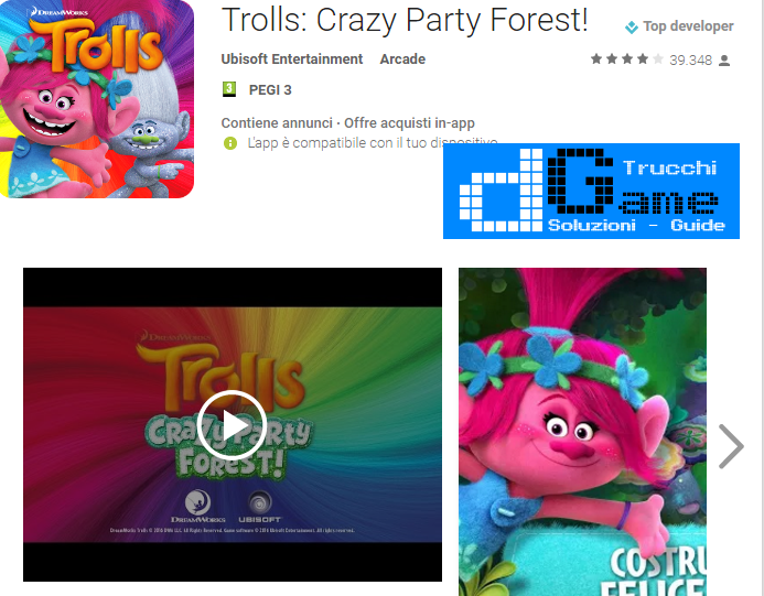 Trucchi  Trolls: Crazy Party Forest Mod Apk Android v2.0.0
