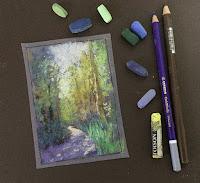 Soft Pastel thumbnail sketch/study work by Manju Panchal
