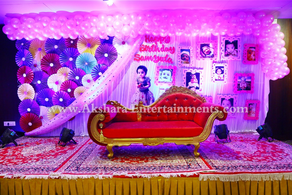 Samyutas First Birthday Party Decoration Park Continental Hotel Masab Tank It Was Samyuta Organised By Akshara Entertainments With A