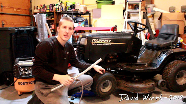 how to fill up riding lawn mower tire with air