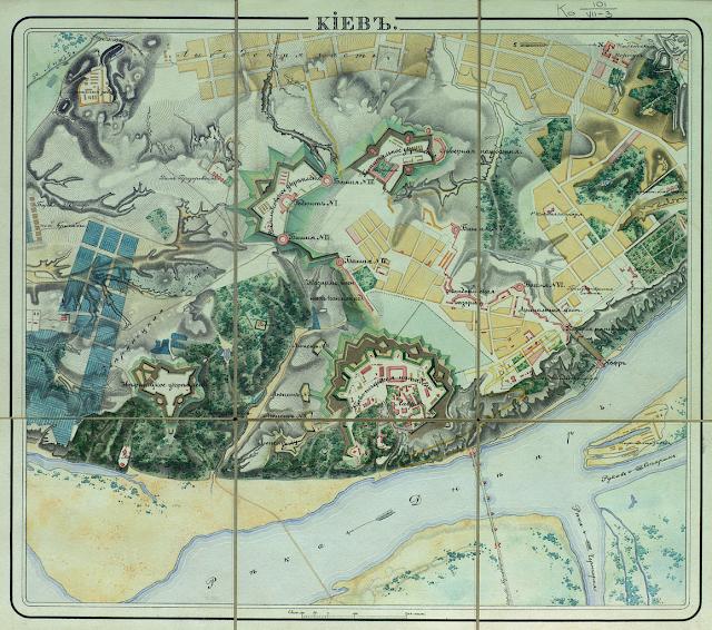 Старая карта Киева