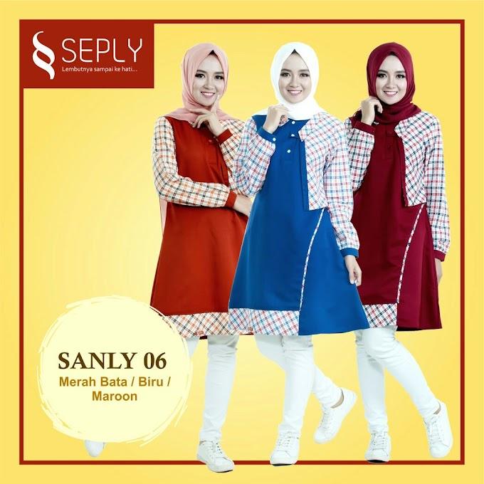 BLOUSE WANITA MUSLIMAH MODERN SEPLY SANLY 06
