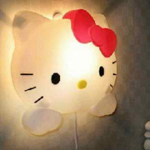 Lampu Dinding Hello Kitty Lucu