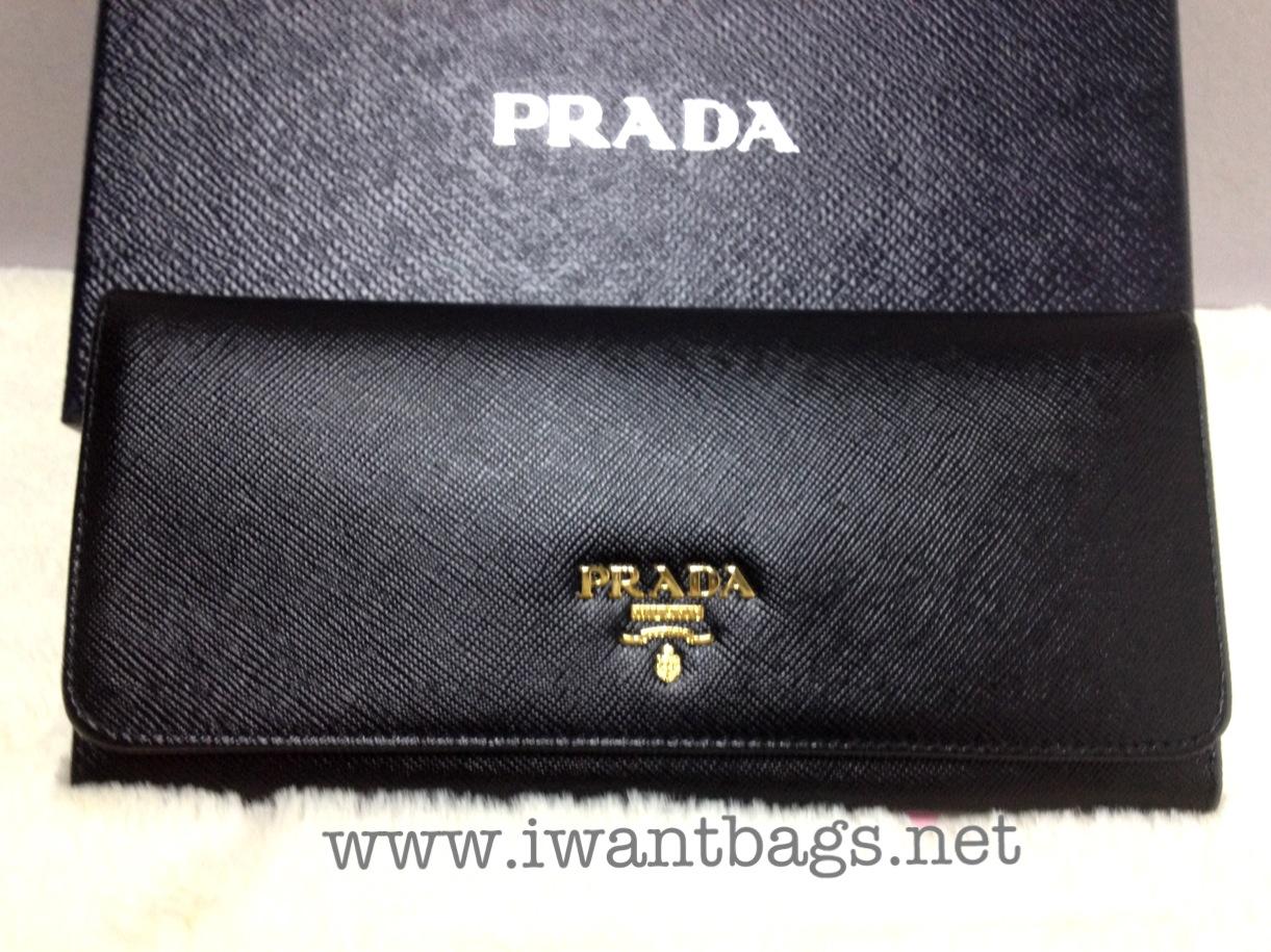 41c751267817 Prada Tri-colour Saffiano Leather Continental Wallet - Black