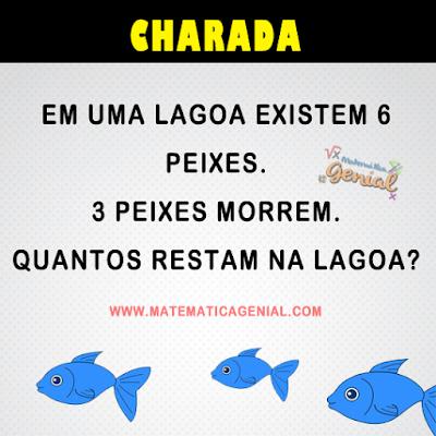 Em uma lagoa existem 6 peixes. 3 peixes morrem. Quantos restam na lagoa?