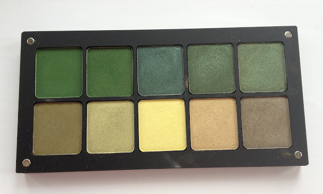 Inglot Eyeshadows - Greenish