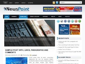 NewsPoint Blogger Template