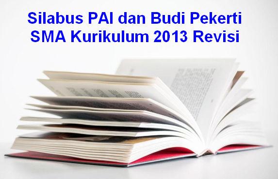 Silabus PAI dan Budi Pekerti SMA Kurikulum 2013 Revisi