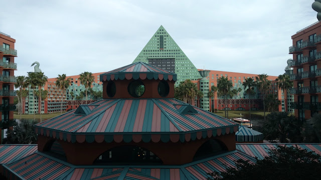 An overview of the Walt Disney World Swan and Dolphin Resort in Buena Vista, FL