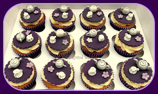 cadburys purple cupcake toppers