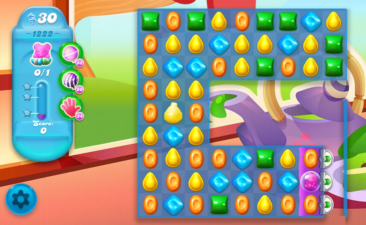 Candy Crush Soda Saga level 1222