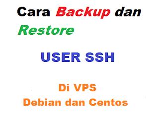 Cara Backup dan Restore User SSH di VPS Debian dan Centos