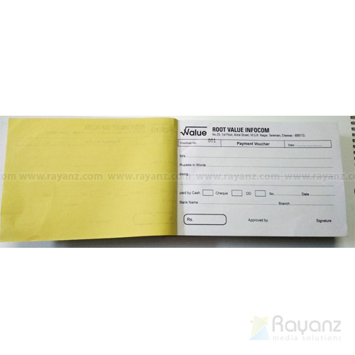 Payment voucher single color offset printing sample