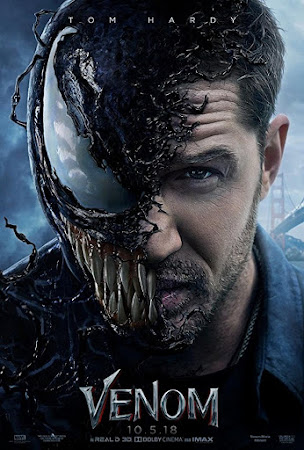 Poster Of Venom In Dual Audio Hindi English 300MB Compressed Small Size Pc Movie Free Download Only At worldfree4u.com